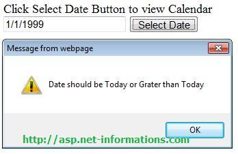 CalendarExtender Validation