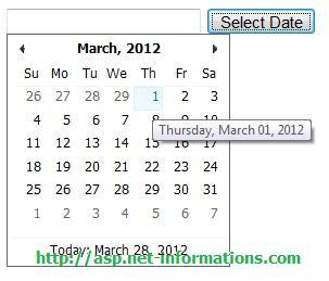 Ajax CalendarExtender